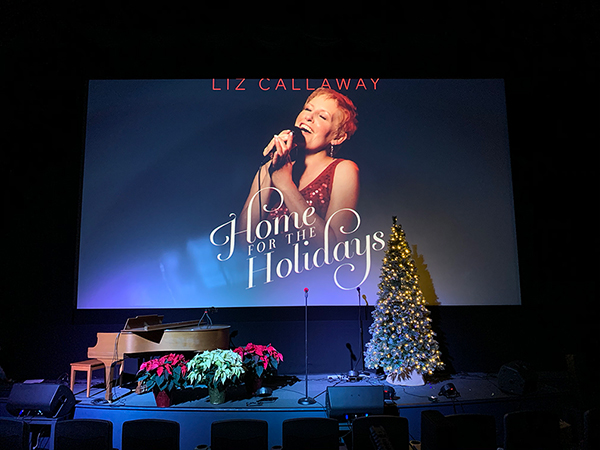 The stage is set for Liz Callaway's upcoming streaming holiday special this Saturday, December 12!
